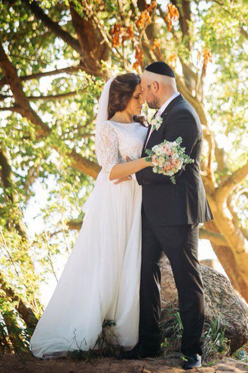 Невеста Александра в платье «Echo» (Cathy Telle)