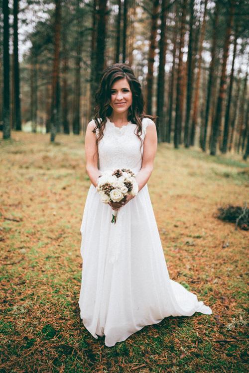 Невеста Анастасия в платье «Nerea» (Cathy Telle)