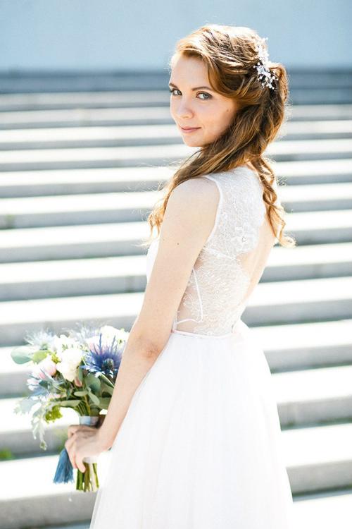 Невеста  Екатерина в платье «Хиония» (Миламира)