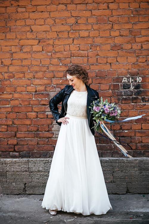 Невеста Ирина в платье «Echo» (Cathy Telle)