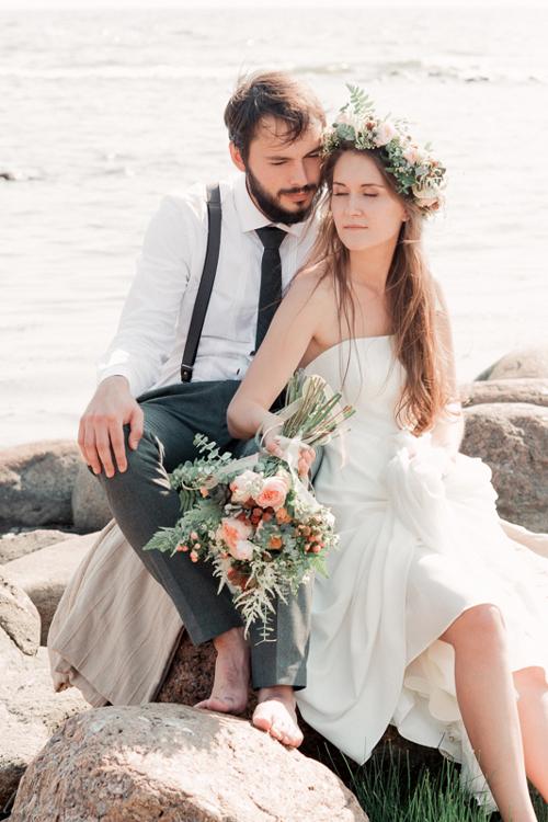 Невеста Юлия в платье «Coralie» (Rembo Styling)