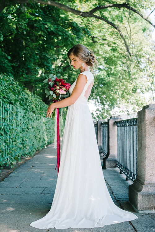 Невеста Юлия в платье «Nerea» (Cathy Telle)