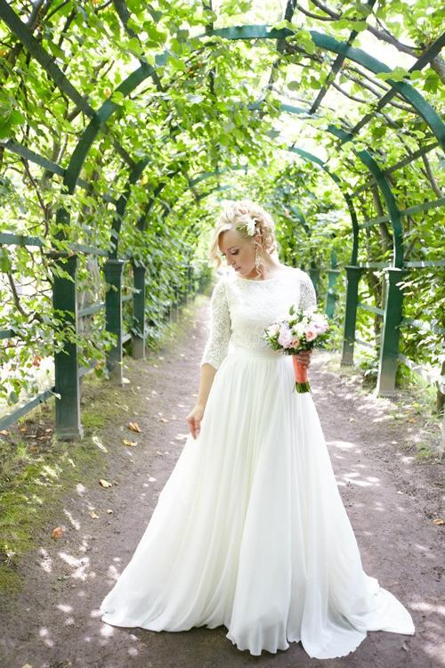 Невеста Ксения в платье «Echo» (Cathy Telle)