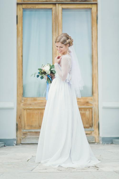 Невеста Людмила в платье «Агния» (Миламира)