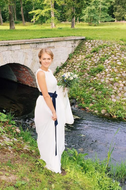 Невеста Ольга в платье «Nerea» (Cathy Telle)