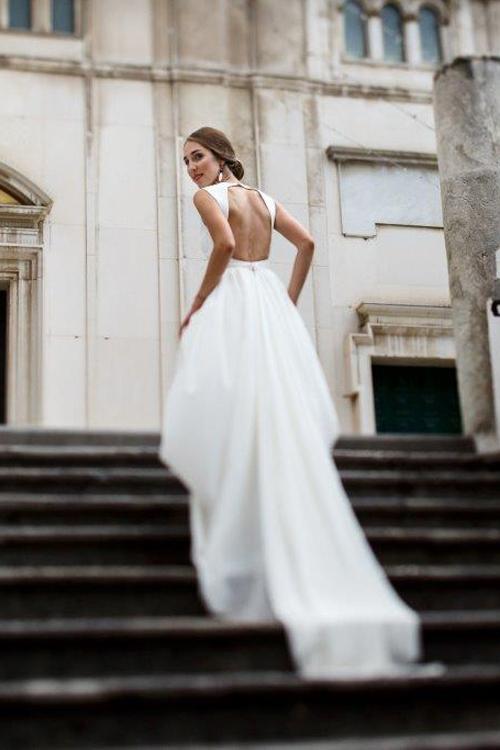 Невеста Полина в платье «Ида» (Миламира)